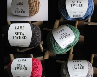 LangYarns SetaTweed-Sommertweed-a super-class yarn, 75% silk + cotton, softness and breathable, for the whole year!