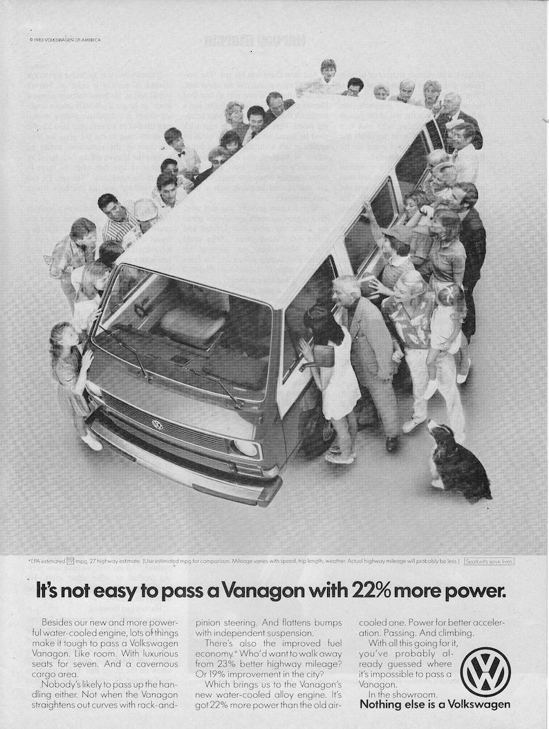 1983 Vw Vanagon Volkswagen 22 More Horse Power Station Etsy