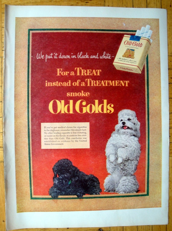 1951 Cute POODLE Puppy Dog Loves RED HEART Dog Food VINTAGE AD