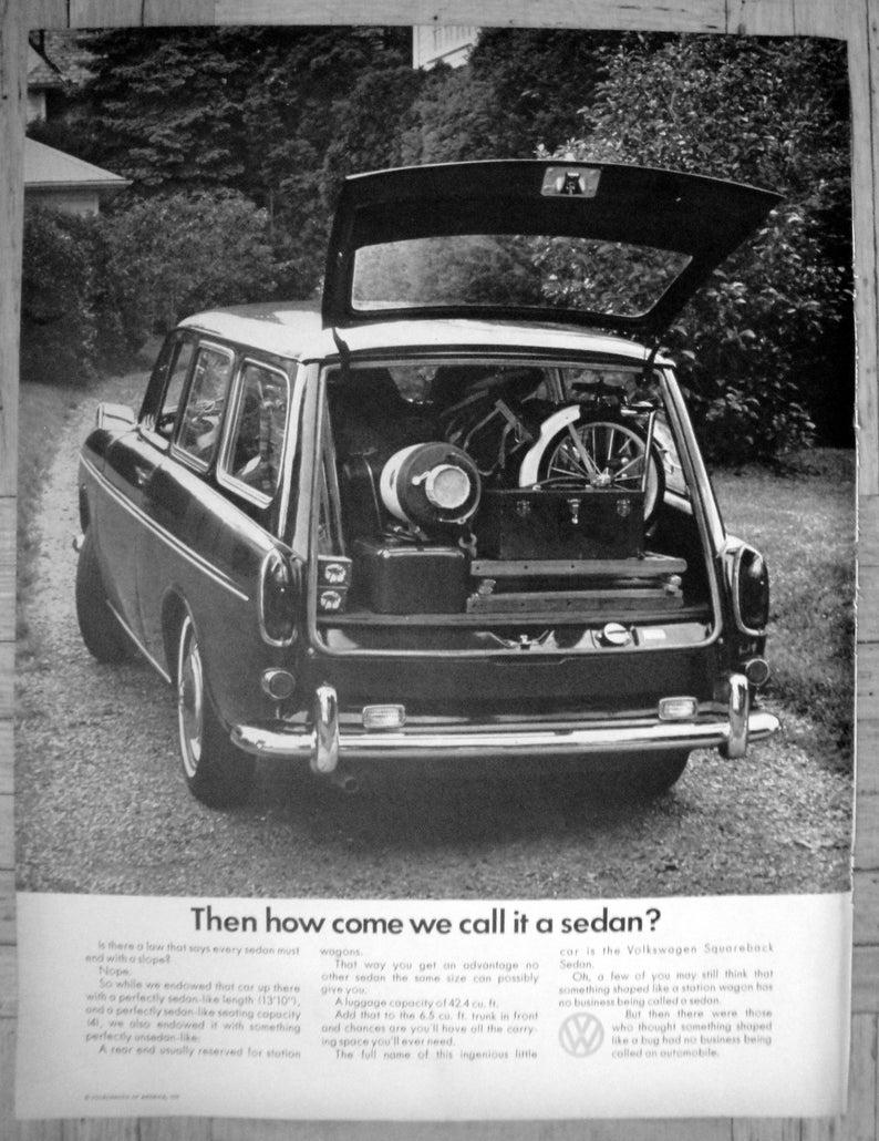 1968 VW Squareback Why Call It A Sedan Volkswagen-Original 13 5 * 10 5  Magazine Ad