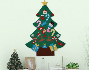 christmas tree kids diy felt christmas tree decorations lovely ornaments door wall hanging decoration new year christmas children gift