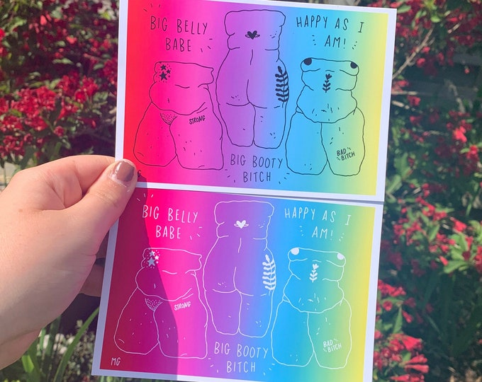 Featured listing image: Rainbow Sketches Print
