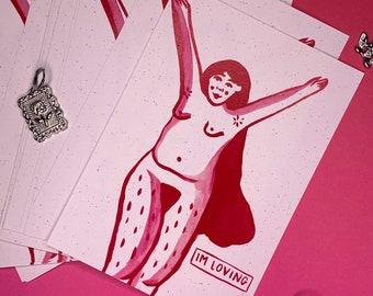 A6 Loving Woman Print