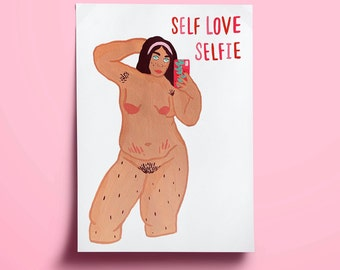 Self Love Selfie Print