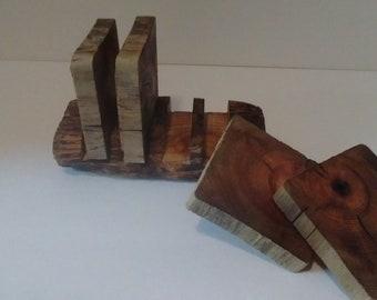 Driftwood Coaster Set
