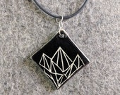 Ceramic Necklace Geometri...