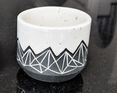 Pottery Cup Tumbler Geome...