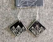 Ceramic Earrings Geometri...