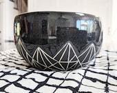 Pottery Bowl Geometric Mo...