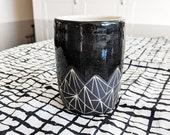 Pottery Tumbler Mug Geome...