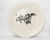 Pottery Plate Urban Graff...