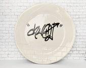 Pottery Plate Urban Graff...