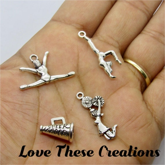 SilberDream Charms in love music heart guitar music note white zirconia 925 Sterling Silver FC735W