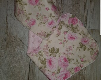 Floral burp cloth and bib set
