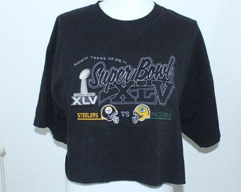 Super Bowl Steelers vs Packers Vintage Graphic t-shirt (RARE one of a kind) 1e05cbff9