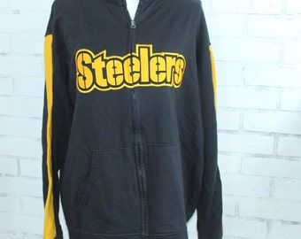 Pittsburg Steelers Vintage Graphic Zip Up Sweatshirt (RARE one of a kind) 3146f0463