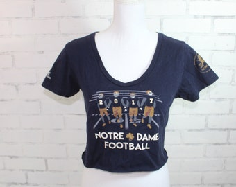 Notre Dame - College Vintage Graphic t-shirt (RARE one of a kind) College  Tailgate Game Day Tshirt cc68a7a9f