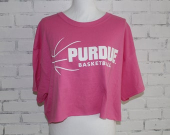 Purdue University Basketball Vintage Graphic t-shirt (RARE one of a kind)  College Tailgate Game Day T-shirt 3d4720f55