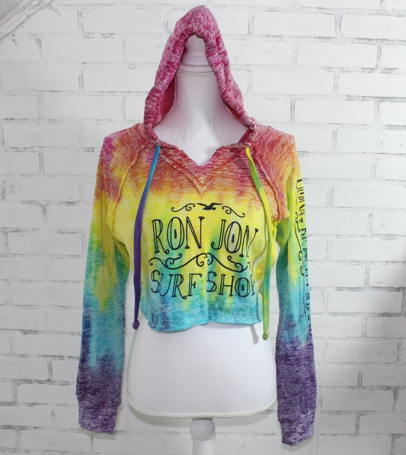 a743b3bc3 Ron Jon Surf Shop Tie Dye Hoodie Graphic t-shirt (RARE One of a Kind)