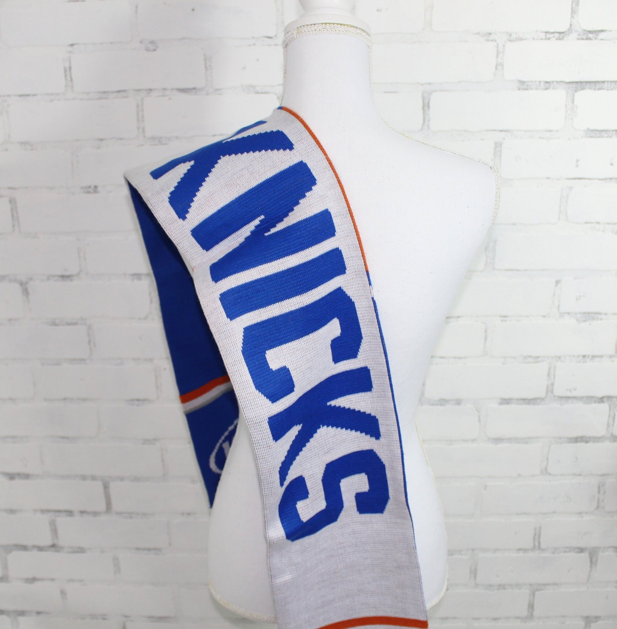 Vintage Scarf Styles -1920s to 1960s Knicks Nba Graphic Scarf  Rare One Of A Kind $0.00 AT vintagedancer.com