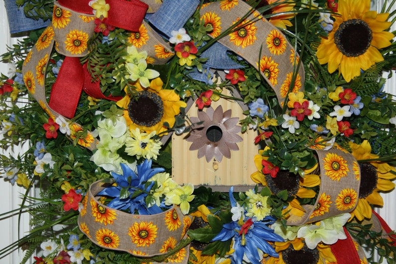 Birdhouse Grapevine Wreath