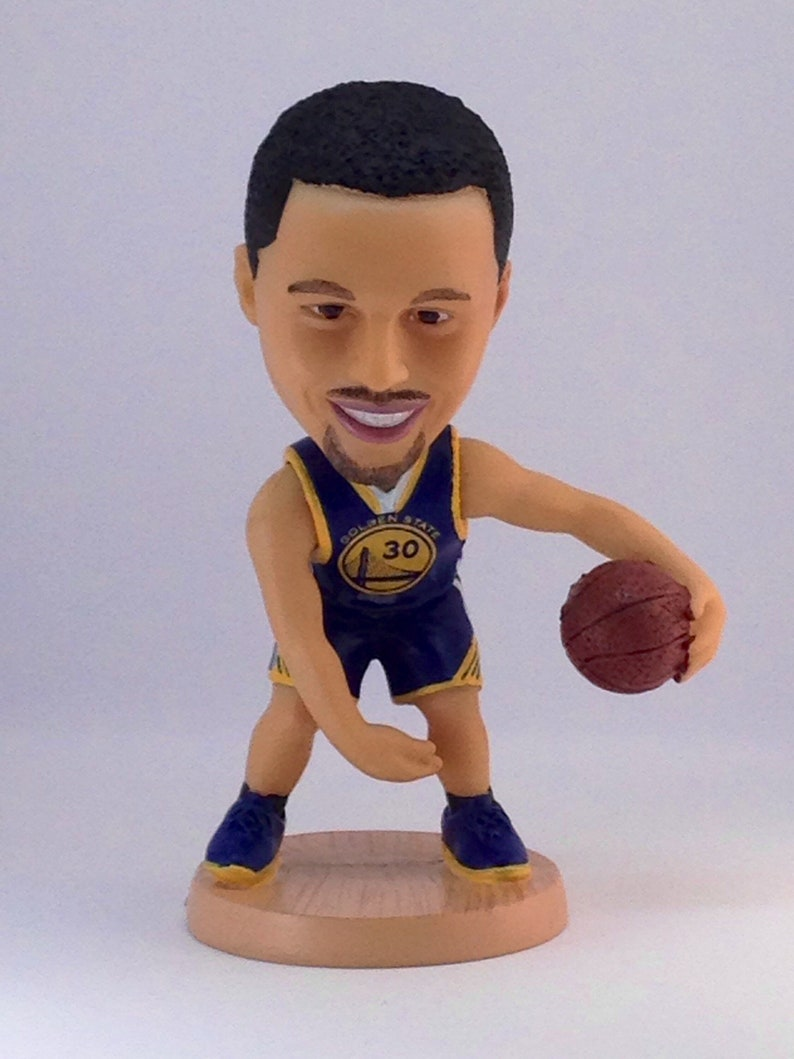 b67f5ebb20b Stephen Curry 12.5cm Moveable Bobble Head Action Toy Figure