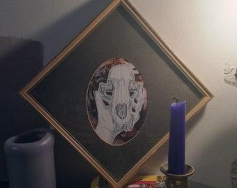Tiger Skull original illustration