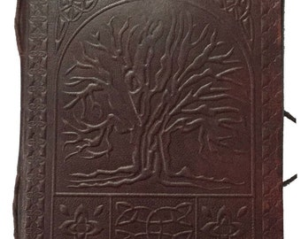 Handmade Leather Tree of Life Notebook