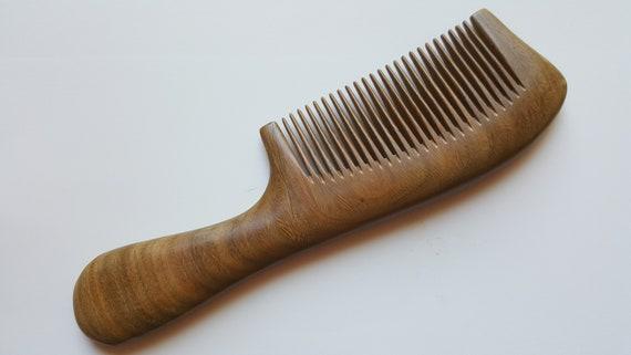 Wooden Beard Comb, Araki Hair Comb, Mustache Comb, Sandalwood Comb, Wood  Comb, Best Beard Comb, Gift for Him, Comb with Handle 7 7