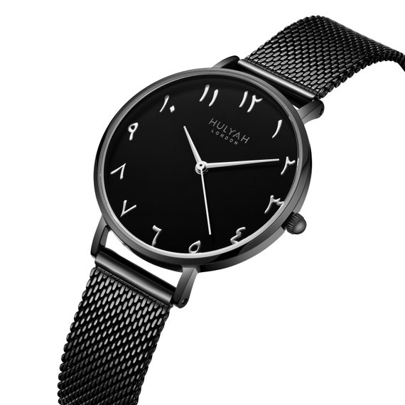 Hulyah arabische Uhr schwarz C17 100 % Original britisches Design