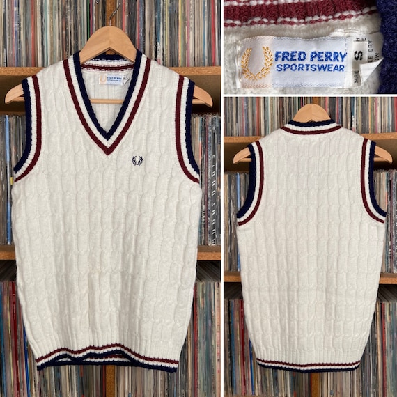 Vintage Fred Perry Cable Knit Sweater Vest