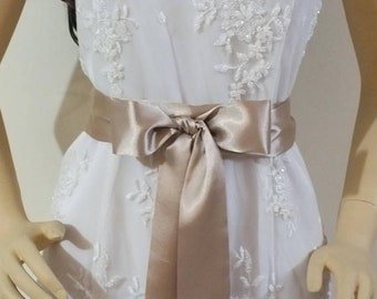 Wedding Belt 3 yards,Sash 2, 3 or 4 inch , Bridal Sash, Wedding Sash, Maternity Sash