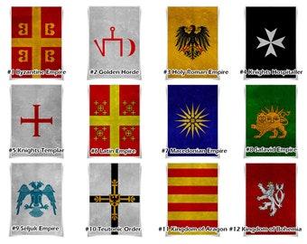 Medieval banner | Etsy