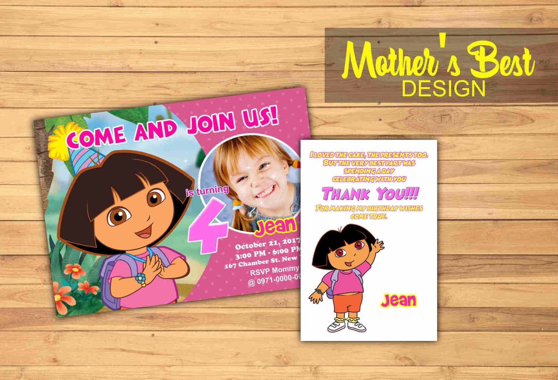 Dora Birthday Invitation Dora Birthday Party Dora The Etsy