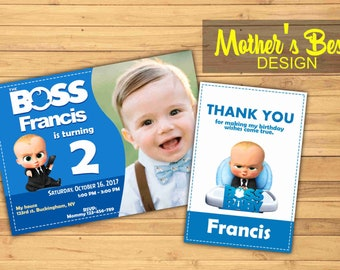 Boss Baby, Boss Baby Invitation, Boss Baby Birthday, Boss Bab