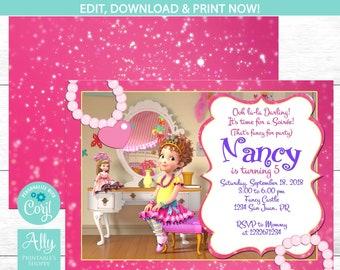 Fancy nancy invite | Etsy