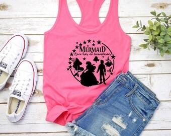 6998f2ad4c5c0 Little Mermaid Love Has No Boundaries Racerback Tank Top • Women s Disney  Tanks • Trendy Disney Tank • Disney Family Vacation Tank Top •