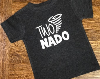 TwoNado Birthday Shirt With Name O 2 Two Year Old Boy Second Party