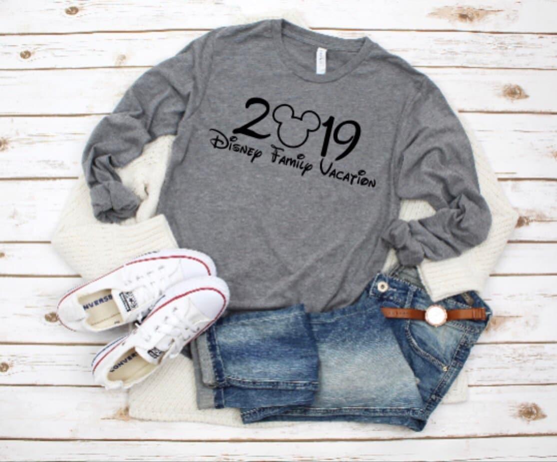 2019 Disney Family Vacation Long Sleeve Shirt Women s  1e16c4b909