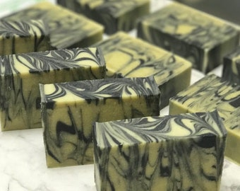 Green Tea Soap Bar, Green Tea Charcoal Soap, Detox Soap, Cold Processed Artisan Soap Bar Gift