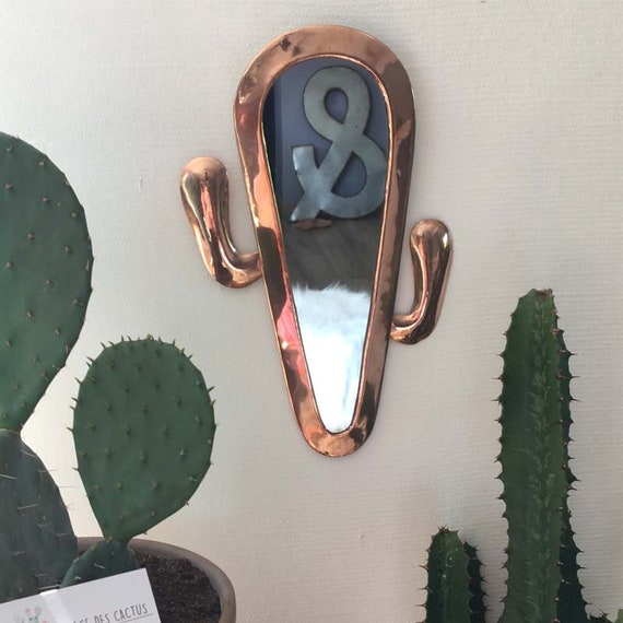 Cactus Mirror Brass Rose Gold Mirror Rose Gold Cactus Etsy