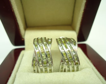 white gold earrings with natural diamonds