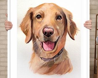 6f6e7ed046d21 Custom pet portrait painting Pet painting mothers day gift Custom Dog  Portrait Custom Dog Painting Portrait From Photo