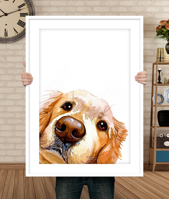 Pet Painting Peekaboo Pet Portrait Custom Pet Portrait Custom Dog Portrait Custom Watercolor Portrait Mom Gift Peekaboo Dog Art by Etsy