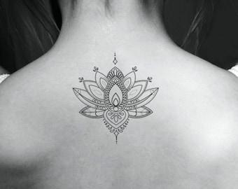 Black Lotus Tattoo Etsy