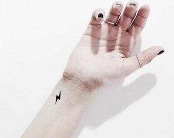 Lightning Tattoo Etsy