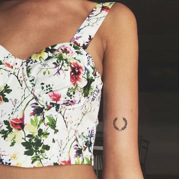 couronne de laurier tatouage temporaire lot de 3 | etsy