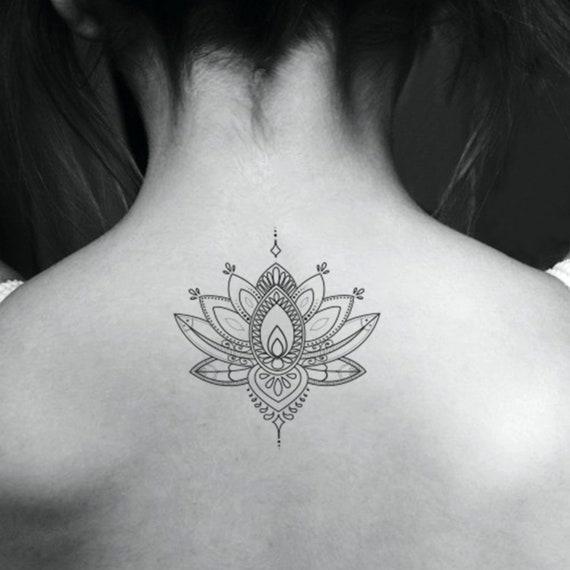 Decoratieve Lotus Bloem Tijdelijke Tattoo Set Van 3