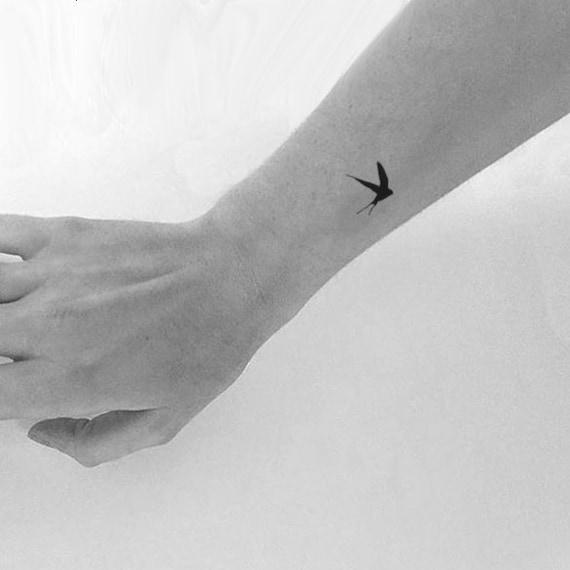 Mała Jaskółka Tymczasowy Tatuaż Zestaw 4