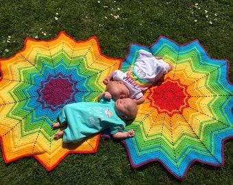 Beginner Crochet Rainbow Ripple Crochet Pattern Pack